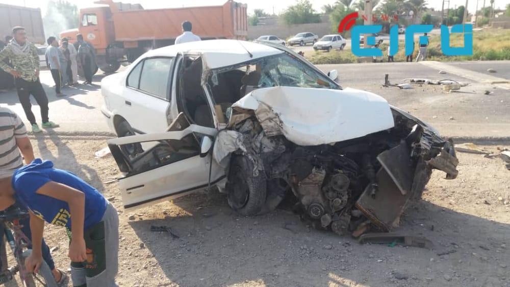 تصادف در محور رامشیر به اهواز یک کشته برجا گذاشت