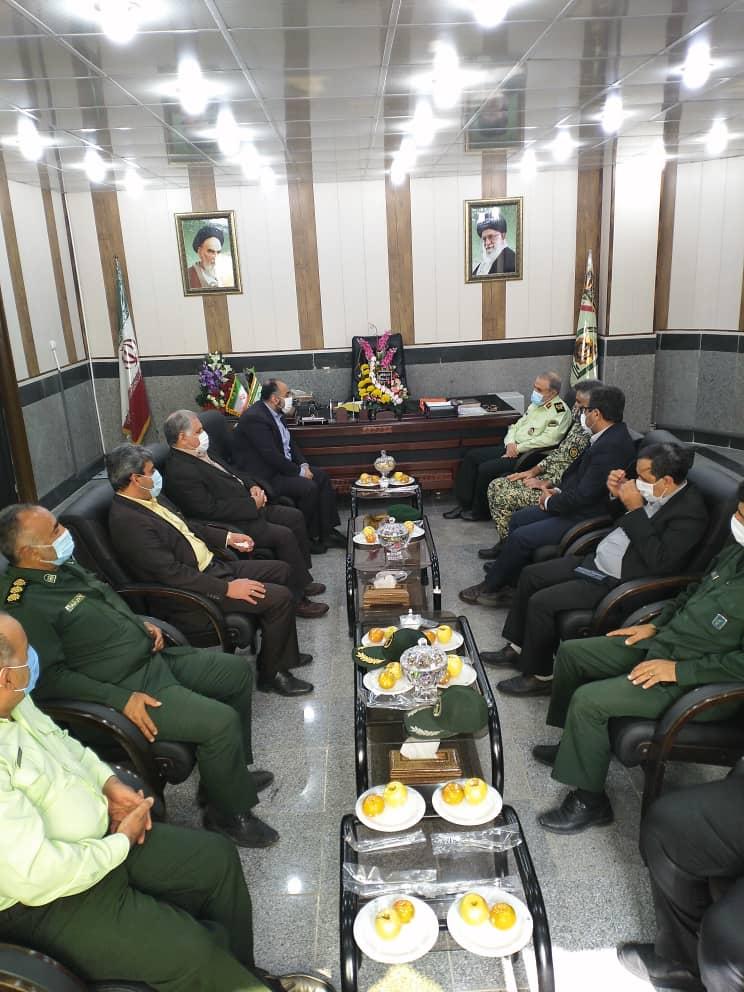 رییس و اعضای شورای تامین شهرستان شوشتر با فرمانده انتظامی استان خوزستان دیدار کردند