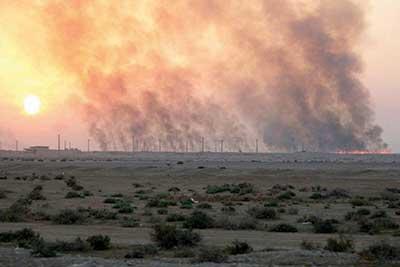 سوزاندن مزارع نیشکر از دلایل اصلی آلودگی هوای اهواز