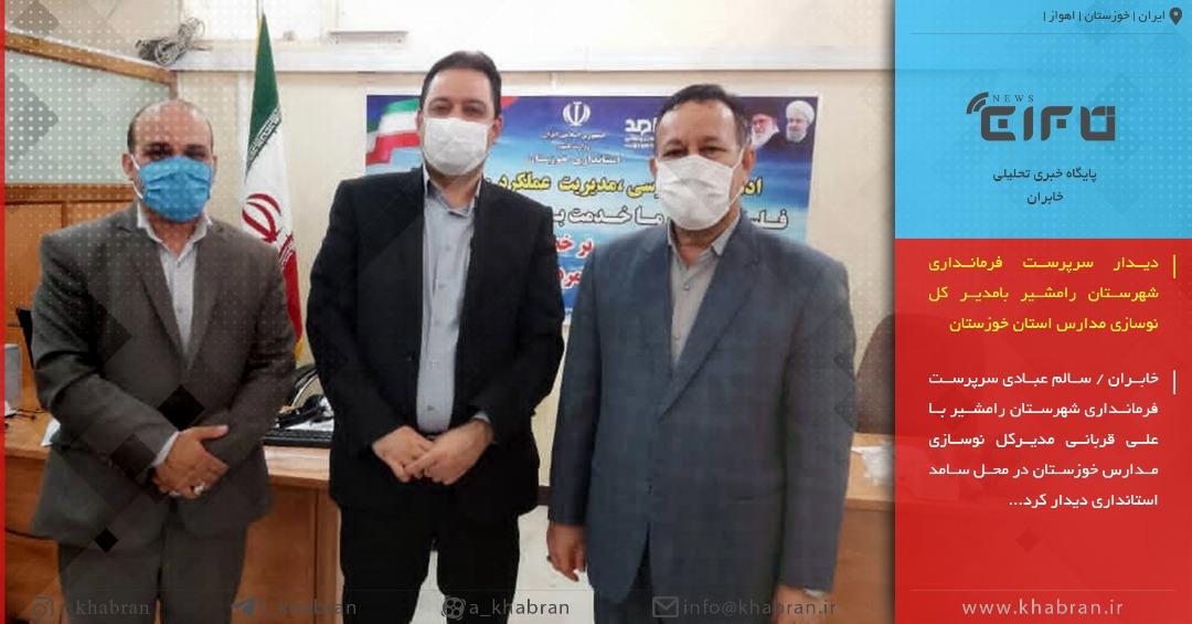 دیدار سرپرست فرمانداری شهرستان رامشیر بامدیر کل نوسازی مدارس استان خوزستان