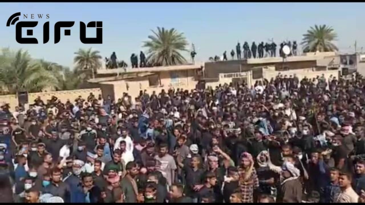 مراسم ختم چند هزار نفری در خرمشهر/دستگیری و پیگرد مسببان در دستور کار قرار گرفت