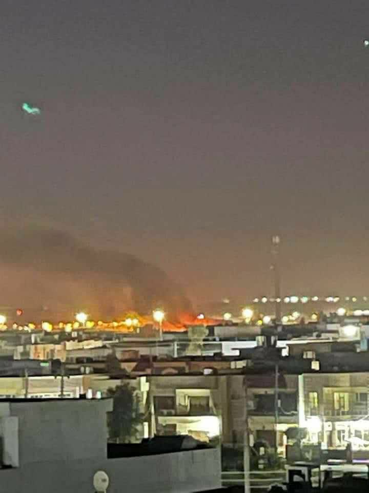 وقوع چند انفجار شدید در اربیل عراق/مسیر کنسولگری آمریکا بسته شد